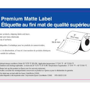 """3"""" x 2"""" Matte Paper Label - 565 Labels (6-Pack)"""
