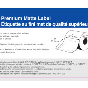 """4"""" x 3"""" Matte Paper Label - 400 Labels (6-Pack)"""
