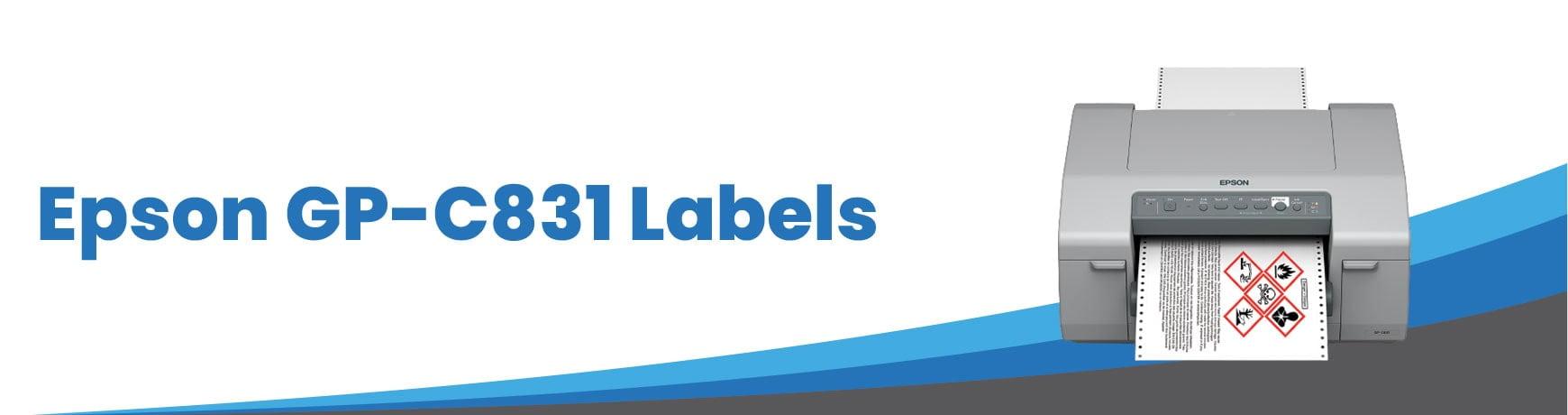 Epson GP-C831 Labels